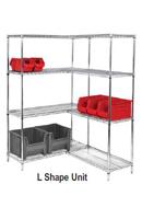 l shaped wire shelving. Black Bedroom Furniture Sets. Home Design Ideas